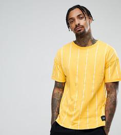 Оверсайз-футболка горчичного цвета в полоску Sixth June - Желтый