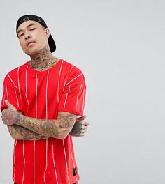 Красная оверсайз-футболка в полоску Sixth June - Красный