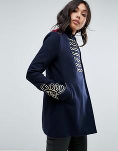 Пальто в стиле милитари Boohoo - Темно-синий