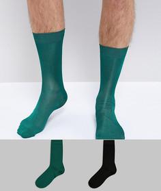 Набор из 2 пар зеленых носков ASOS - Мульти