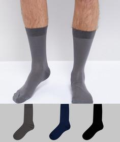 Набор из 3 пар носков из тонкого хлопка ASOS - Мульти