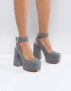 Туфли на каблуке и платформе ASOS PICASSO - Серый