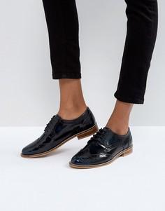 Кожаные туфли на плоской подошве ASOS MOJITO - Темно-синий