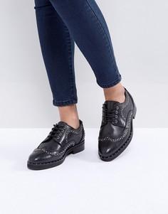 Кожаные туфли с заклепками ASOS MONTEREY - Черный