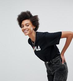 Оверсайз-футболка бойфренда с логотипом на груди Fila - Черный