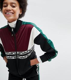 Спортивная куртка с контрастными вставками и логотипом Fila - Черный