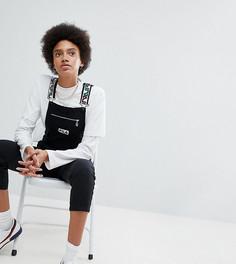 Комбинезон с карманом на груди и логотипом Fila - Черный