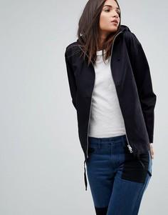 Хлопковая куртка с капюшоном YMC - Темно-синий