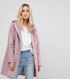 Куртка с искусственным мехом ASOS PETITE Premium - Розовый