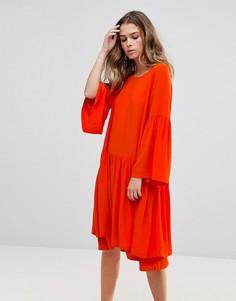 Платье с ярусной юбкой Just Female Garner - Оранжевый