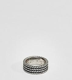 Серебристое кольцо с узором Reclaimed Vintage Inspired эксклюзивно для ASOS - Серебряный