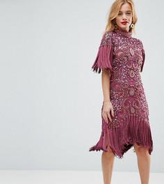 Платье мини с декоративной отделкой A Star Is Born Petite - Фиолетовый