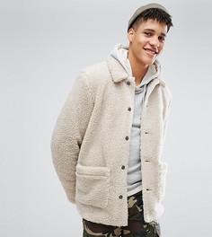 Светло-бежевая куртка из искусственного меха ASOS TALL - Бежевый