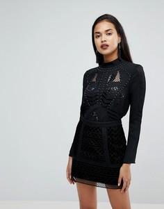 Блузка в стиле вестерн с отделкой заклепками River Island - Черный