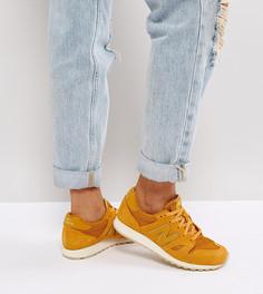 Замшевые кроссовки горчичного цвета с отделкой металлик New Balance 520 - Желтый