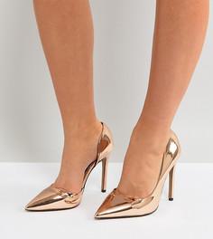 Туфли-лодочки для широкой стопы на каблуке River Island - Золотой
