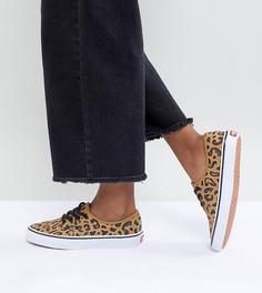 Кеды унисекс с леопардовым принтом Vans Authentic - Мульти