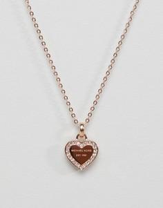 Ожерелье с подвеской-сердечком Michael Kors - Золотой