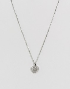 Серебристое ожерелье с подвеской-сердечком Michael Kors - Серебряный