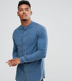 Синяя узкая джинсовая рубашка Illusive London - Синий