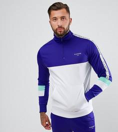 Фиолетовая облегающая спортивная куртка с молнией Illusive London - Фиолетовый