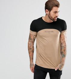 Обтягивающая футболка Illusive London - Светло-бежевый