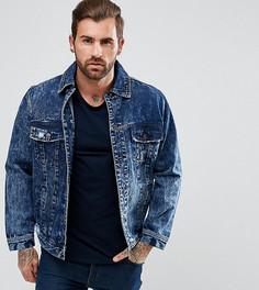 Облегающая джинсовая куртка с рваной отделкой Illusive London - Синий