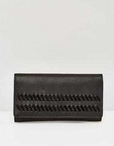 Кожаный кошелек с замшевой отделкой ASOS - Черный