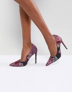 Туфли на высоком каблуке с вышивкой ASOS PUZZLE - Мульти