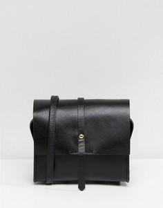 Маленькая кожаная сумка через плечо ASOS - Черный