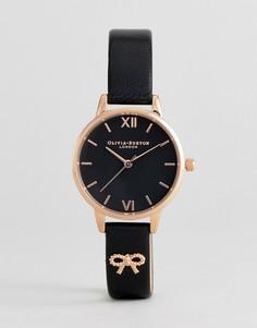Часы с коричневым кожаным ремешком и бантиком Olivia Burton OB16VB07 - Черный
