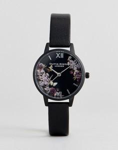 Часы с черным кожаным ремешком Olivia Burton OB16AD22 - Черный