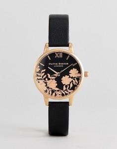 Часы с черным кожаным ремешком Olivia Burton OB16MV75 - Черный