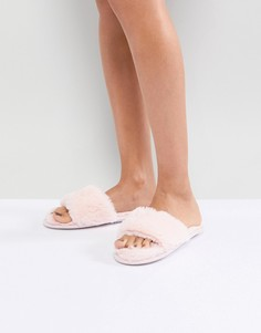 Шлепанцы из искусственного меха Head Over Heels by Dune - Розовый