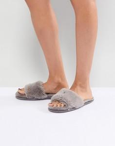 Шлепанцы из искусственного меха Head Over Heels by Dune - Серый