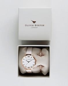 Набор с часами с кожаным ремешком и золотистым браслетом Olivia Burton Bee Mine OB16GSET04 - Золотой