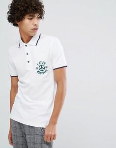 Футболка-поло с вышитым логотипом Love Moschino - Белый