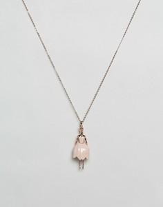 Ожерелье с подвеской-балериной Ted Baker Tulip - Золотой