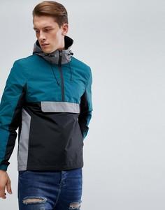Куртка колор блок D-Struct - Черный