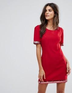 Платье с отделкой пайетками Jasmine - Красный