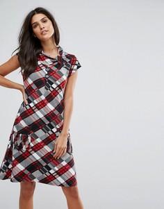 Платье в клетку Jasmine - Красный