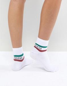 Новогодние носки с надписью Fab Yule Us ASOS - Белый