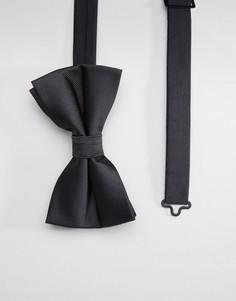 Черный галстук-бабочка ASOS - Черный