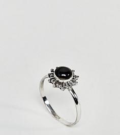 Серебряное кольцо с ониксом Reclaimed Vintage - Серебряный