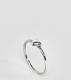 Серебряное кольцо с отделкой в форме сердца Reclaimed Vintage - Серебряный