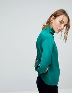 Блузка с высоким воротом Weekday - Зеленый