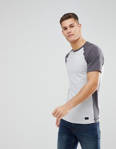 Серая футболка с круглым вырезом Abercrombie & Fitch Athleisure - Серый