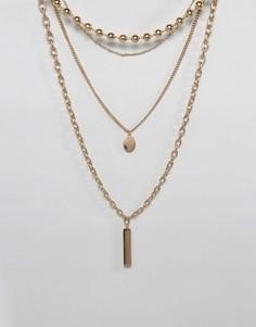 Золотистое многорядное ожерелье ALDO - Золотой