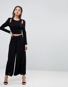 Широкие брюки Finders Keepers Mateo - Черный