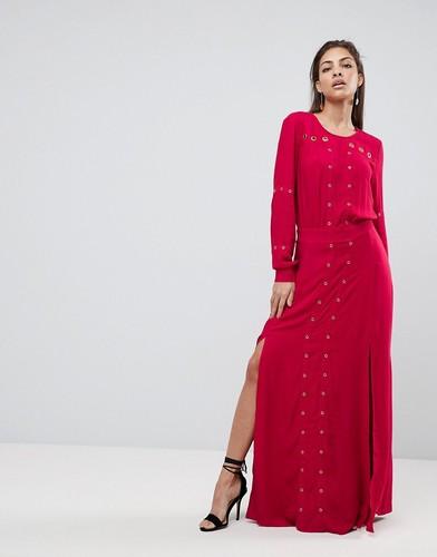 Платье макси с разрезом Finders Keepers Maddox - Красный